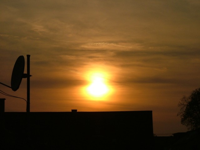 Warum spiegelt sich die Sonne in den Wolken?